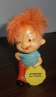 """Figurine Garcon """"Attention Les Filles"""" Berries Vintage - 1970 - Cheveux Oranges - Figurines"""