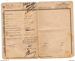 Billet D'Hopital Militaire  WW1 14-18  Poilu 352 Infanterie 1916 - Vieux Papiers