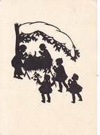 GESEGUETE WEIHNADCH! SOMBRAS SILHOUETTES CPSM CIRCULEE CIRCA 1960's- OBLITERE WIEN- BLEUP - Silhouetkaarten