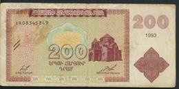 °°° ARMENIA - 200 DRAM 1993 °°° - Arménie