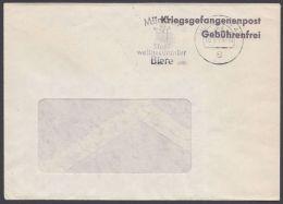 """""""kriegsgefangenenpost Gebührenfrei"""", 1974 Gelaufen, Abs. """"Rotes Kreuz"""" - BRD"""