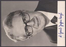 """""""Hans-Jochen Vogel"""", Fotokarte Mit Unterschrift, * - BRD"""