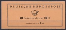 """Mi-Nr. MH 6e, """"Heuß"""", Schwache Rote Bogenlaufnummer, üblich Links Offen - BRD"""