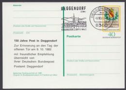 "Mi-Nr. PSo 5, Zudruck ""150 Jahre Post In Deggendorf"", Pass. Stempel, O - BRD"