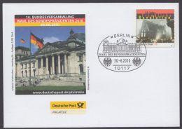 """Mi-Nr. EA, Erlebnis Briefmarke, Umschlag 93 """" Wahl Des Bundespräsidenten"""" 2010, Pass. Sst. - BRD"""