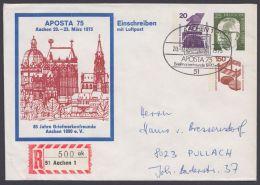"""Mi-Nr. PU 57  D2/01a, """"Aposta"""", 75, Dek. Umschlag Mit 3 Wertzeichen, O - BRD"""