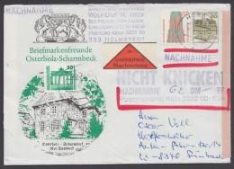 """""""Osterholz-Scharmbeck"""", 1991 Als NN.Brief Mit Pass. Zfr., O - BRD"""