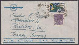 "Luftpostbrief ""via Condor"" In Die Schweiz, 1936 - Brasilien"
