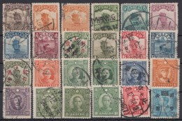 24 Versch. Werte Aus 1913/43, Dabei Versch. Aufdrucke, O - China