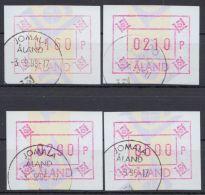Mi-Nr. ATM 5, 4 Versch. Hohe Werte, Alle Jomala, O - Finnland