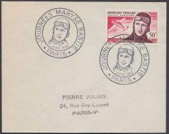 """Mi-Nr. 1052, """"M. Bastie"""", Fliegerrennen, 1955, Pass. ESst. - Frankreich"""