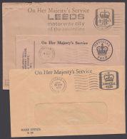 3 Versch. Dienstpost- Umschläge Aus 1970 - 1952-.... (Elisabeth II.)