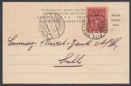 "Mi-Nr. 104, Saubere EF Auf Bedarfskarte Nach Suhl, ""Riga"", 10.6.27 - Lettland"