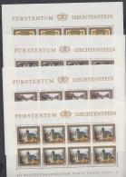 """Mi-Nr. 706/9, """"40 Jahre Regentschaft"""", 1978, Kleinbogensatz, ** - Liechtenstein"""