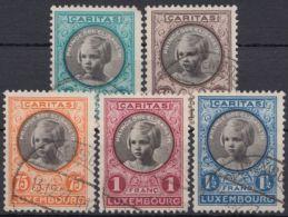 "Mi-Nr. 192/6, ""Kinderhilfe"", 1927, Sauber Gest., 192 Eckfehler (billigster Wert), O - 1921-27 Charlotte Frontansicht"