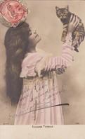 ELLALINE TERRISS, ACTRIZ ACTRESS. AVEC CHAT CHATON CAT KITTY. BNK. CIRCULEE MONTEVIDEO URUGUAY 1904- BLEUP - Artistes
