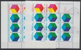 """Mi-Nr. Block 9, """"Voor Het Kind"""", 1970, 2 Blocks, **, O - 1949-1980 (Juliana)"""