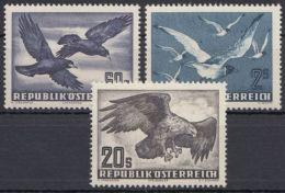"Mi-Nr. 955/6, 968, ""Vögel"", 1951/2, ** - 1945-.... 2. Republik"