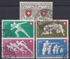 """Mi-Nr. 545/9, """"Pro Patria"""", 1950, Komplett, O - 1945-60 Gebraucht"""