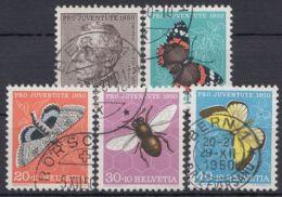 "Mi-Nr. 550/4, ""Pro Juventute- Schmetterlinge"", 1950, Kplt., O - 1945-60 Gebraucht"