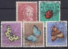 "Mi-Nr. 575/9, ""Pro Juventute"", 1952, Kplt., O - 1945-60 Gebraucht"