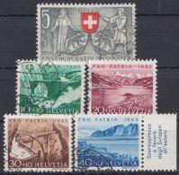 "Mi-Nr. 580/4, ""Pro Patria"", 1953, Kplt., O - 1945-60 Gebraucht"