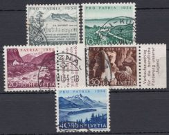"""Mi-Nr. 597/601, """"Pro Patria"""", 1954, Kplt., O - 1945-.... 2. Republik"""