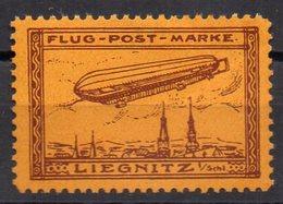 GERMANY 1911. FLUG POST MARKE LIEGNITZ ZEPPELIN PARSEVAL **MNH - Airships
