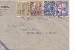 SOBRE ENVELOPE CIRCULEE CIRCA 1939 GUATEMALATO HONDURAS AIRMAIL- BLEUP - Guatemala