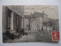 CPA CPSM CP VAR 83 LE LAVANDOU 1910 - PLACE ERNEST-REYER / CAFÉ DU CENTRE / ANIMÉ / CÔTE D'AZUR - ED POULLAN TBE - Le Lavandou