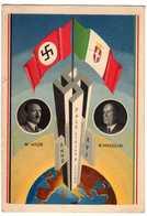 Guerre 39-45 : Hitler - Mussolini : Pace Civitta Lavoro Anno XVI - Guerre 1939-45