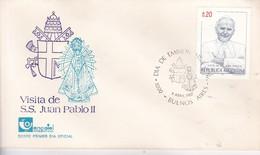 LOTE X 3 VISITA SS JUAN PABLO II. FDC. ABRIL 1987 BUENOS AIRES CIRCA 1920s- BLEUP - FDC