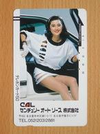 Japon Japan Free Front Bar, Balken Phonecard / 110-8475 / Lady Woman - Personnages