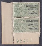 France 1937 - Timbres Fiscaux N°28** Bande De 2  Timbres N° + BdF - Steuermarken