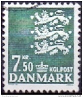 DENEMARKEN 1998 7.50kr Rijkswapen GB-USED - Gebraucht
