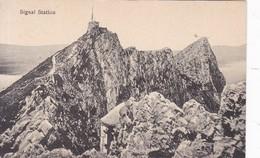 SIGNAL STATION.. EDD V B CUMBO. GIBRALTAR. CIRCA 1910- BLEUP - Gibraltar