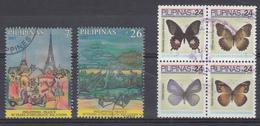 Filippine Philippines Philippinen Filipinas 2007 Butterflies, France, Birds, Incomplete Sets - USED (see Photo) - Filippine