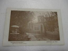 CPA ALPES-MARITIMES 06 MENTON 1918 - TRIANON-RESTAURANT Mme Folmer-Dutoit Propiétaire  - TBE - Menton