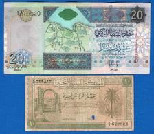 Libye   2  Billets  Dans  L'etat - Libye