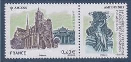 = Amiens 86 Congrès De La Fédération Française Des Associations Philatéliques 0.63€ + Vignette N°4748 Neuf - Unused Stamps