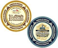 Birra Dolomiti. Fabrica Di Pedavena. Superior. Birra Italiana. Trade Mark. Www.fabricadipedavena.it. - Sotto-boccale