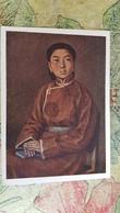 "Mongolia -  Old Postcard "" Young Student"" By Jadamsron -  1954 - Mongolia"