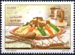 ALGERIA ALGERIE 2018 - ALGERIAN GASTRONOMY COUSCOUS MEAL LEGUMES GASTRONOMIE ALGERIENNE REPAS CUISINE SPOON CUILLERE MNH - Vegetables