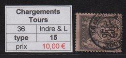 Chargements Tours - Indre Et Loire - 1895 - Type Sage - Marcophilie (Timbres Détachés)