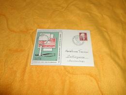 CARTE PHILATELIQUE DE 1958. / GIORNATA DEL FRANCOBOLLO. JOURNEE DU TIMBRE. / CACHET + TIMBRE SUISSE - Cartoline Maximum