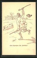 AK Jagdhumor, Ein Jäger Verfolgt Einen Hasen - Hunting