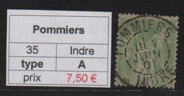 Pommiers - Indre - 1901 - Type Sage - Marcofilia (Sellos Separados)