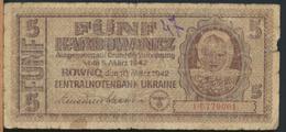 °°° UKRAINE - 5 FUNF 1942 °°° - Ucraina