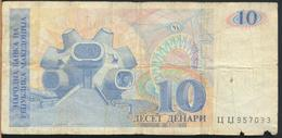 °°° MACEDONIA 10 DENARI 1993 °°° - Macedonia