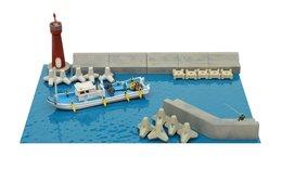 Tomytec Diorama : Dock Side Details  1/150 - Scenery